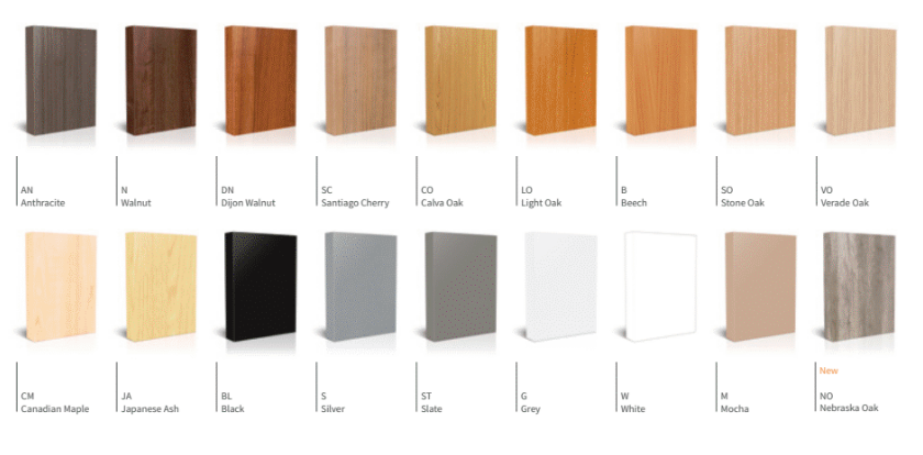 Evolution Bench Board Finishes