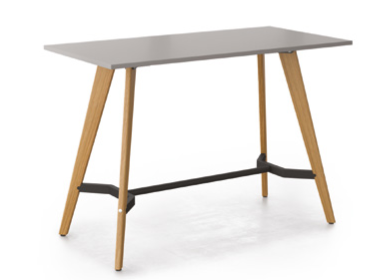 Evolve Shaped Rectangular Poseur Table Image
