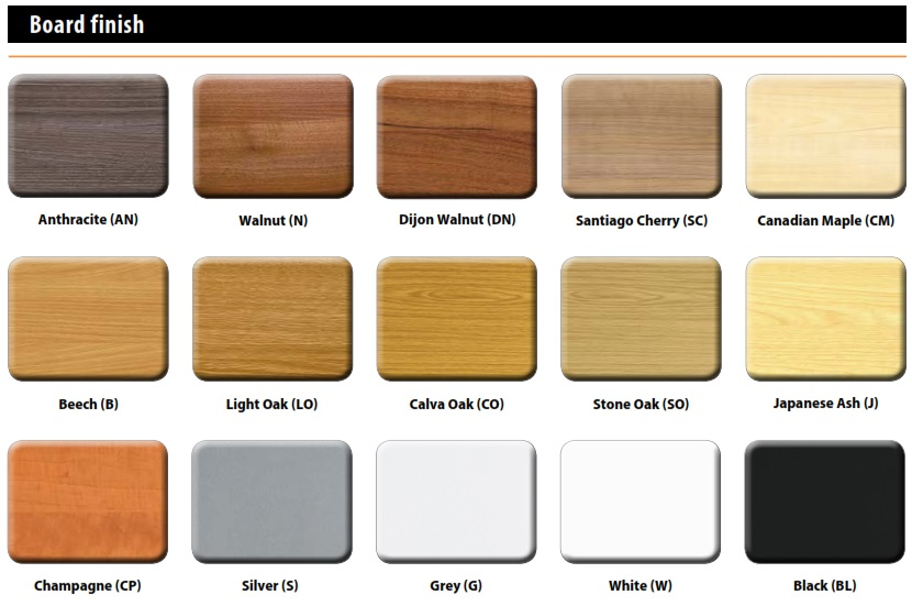 Tambour Cupboards - Wood Finishes