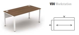 800mm Deep VDU Workstation