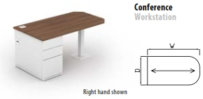 800mm Deep Conference Workstation