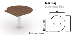 Tear Drop Conference Link Table