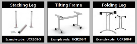 Reunion Folding Leg Table Leg Styles