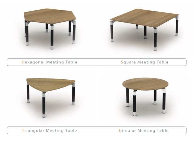 Reunion Panel End Leg Meeting Tables Shapes