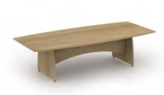 Reunion Panel End Leg Boat Shaped Table