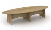 Reunion Panel End Leg Eliptical Table
