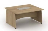 Reunion Panel End Leg Rectangular Extension Table