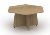 Reunion Panel End Hexagonal Table
