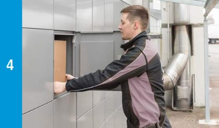 Intelligent Parcel Lockers - Parcel Is Collected