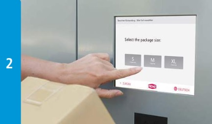 Intelligent Parcel Lockers - Select Parcel Size