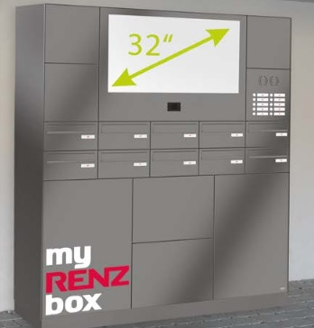 Intelligent Parcel Lockers With 32 Inch Control Unit