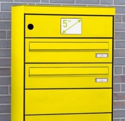 Intelligent Parcel Lockers With 5 Inch Control Unit