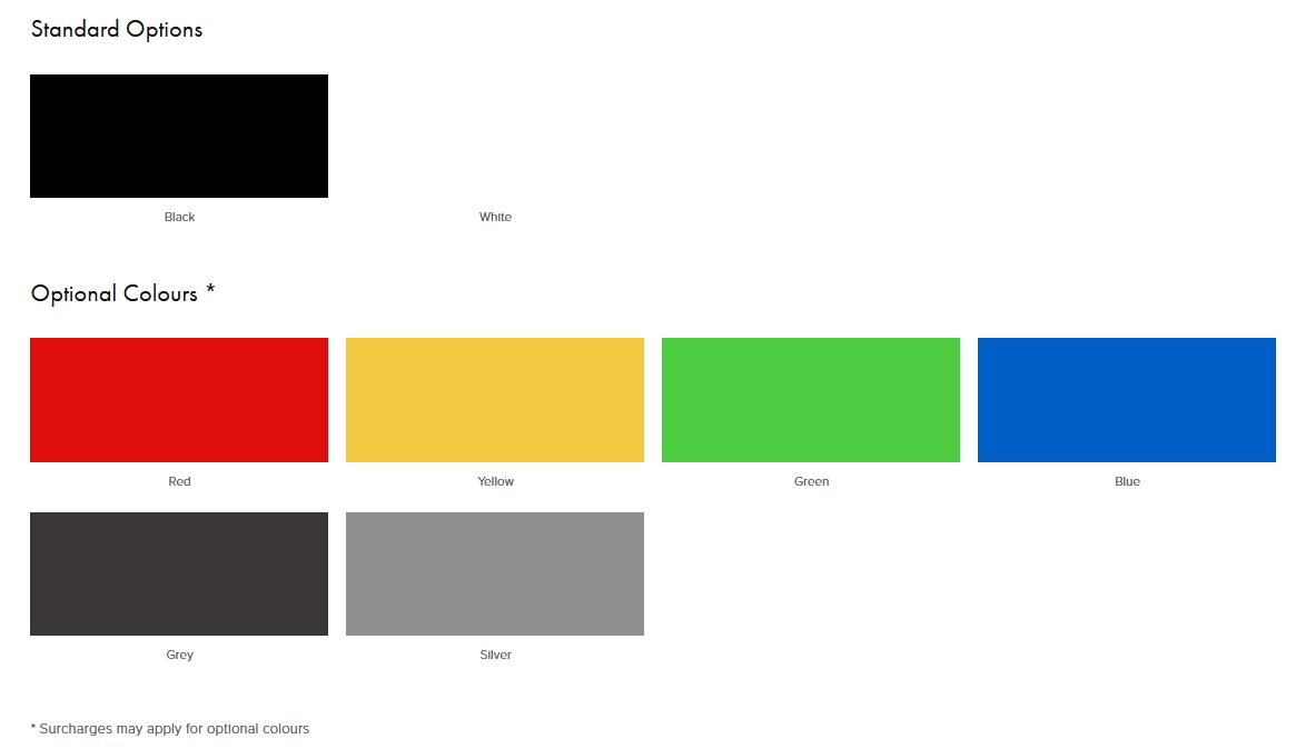 Louie Laptop Table Frame Colours