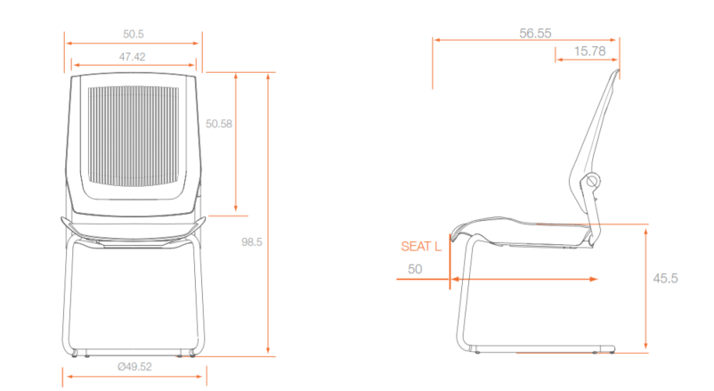 Bodyflex Visitor Chair Dimensions