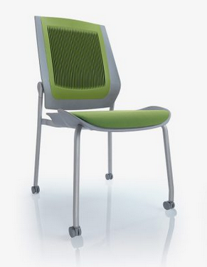 Bodyflex Visitor Chair Image - 4 Leg with Castors