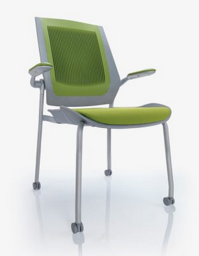 Bodyflex Visitor Chair Image - 4 Leg with Castors/Arms