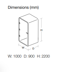 Acoustic Phone Booth Dimensions