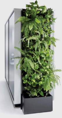 Acoustic Twin Work Pod - Green Wall Image