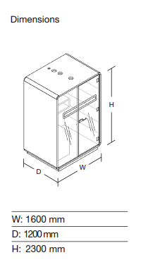 Acoustic Work Pod Dimensions