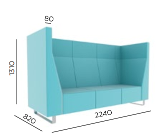 Voo Voo 9XX High Back Soft Seating - Dimensions
