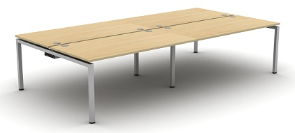 Aero Bench Desk - 4 Person Desk
