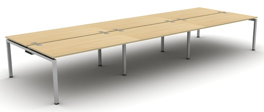 Aero Bench Desk 6 Person