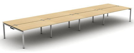 Aero Bench Desk - 8 Person Desk