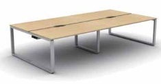 Arc Bench Desk | Arc Bench Desking - 4 Person Desk