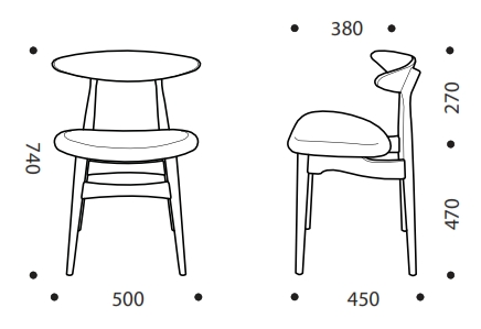 Eva Breakout Chair Dimensions