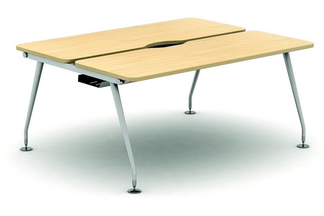 2 Person Height Adjustable Bench Desk