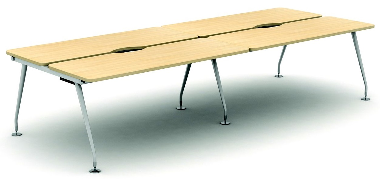 4 Person Height Adjustable Bench Desk