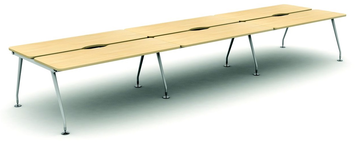 6 Person Height Adjustable Bench Desk
