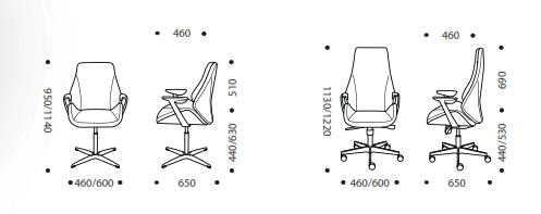 Memphis Conference Chair Dimensions