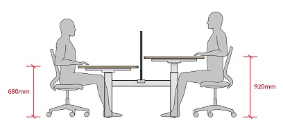 Move Height Adjule Desks Crank Adjustment Range