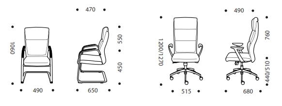 Otto Executive Chair Dimensions