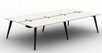 Pyramid Steel Bench Desk - 4 person back to back