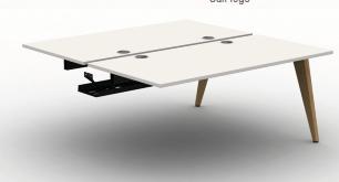 Pyramid Wood Bench Desk  - B2B Add on Module