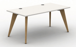 Pyramid Wood Bench Desk  - Rectangular Desk