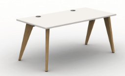 Pyramid Wood Bench Desk  - Single Starter Module