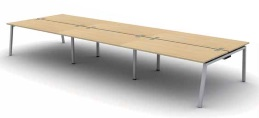 Soho3 Bench Desks | Bench Desking - 6 Person Bench Desk