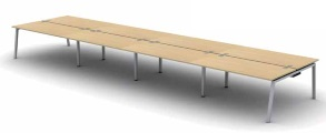 Soho3 Bench Desks | Bench Desking - 8 Person Bench Desk