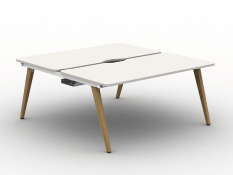 Vega Wood - 2 Person Back to Back Bench Desk