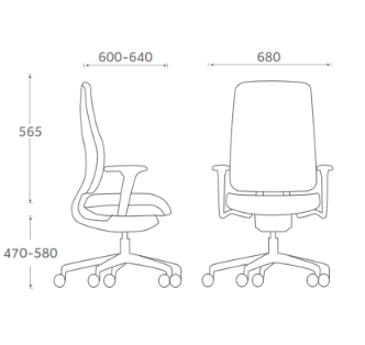 Absolute Task Chair Dimensions