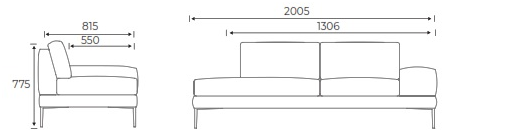 Alfi Soft Seating - dimensions