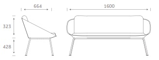 Dishy Soft Seating - DISHYSOFA Dimensions