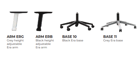 Era Task Chair Arm/Base Options