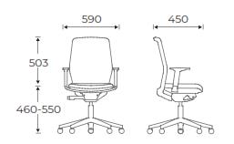 Era Task Chair Dimensions