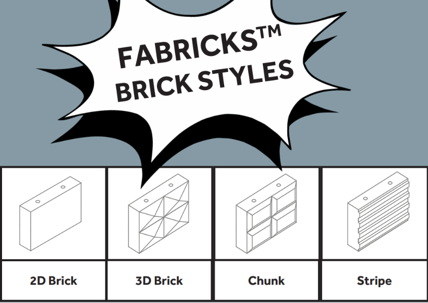 Fabricks Acoustic Bricks - Styles