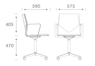 FourCast XL/Plus Meeting Chair Dimensions