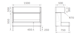 FourUS Booths and Sofas Dimensions